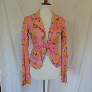 Tommy Hilfiger Pink Flower Jacket Blazer M Medium